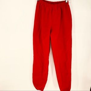 Hanna Andersson 160 red sweat pants- big kid